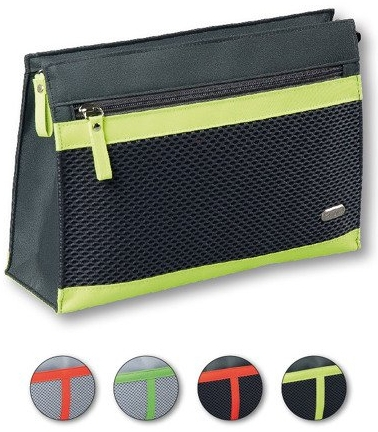 Kozmetická taška 94675, čierno-svetlozelená - Top Choice Net — Obrázky N1