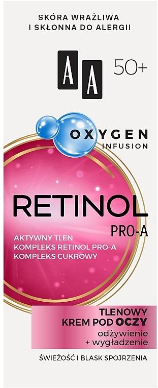 Krém na viečka 50+ - AA Oxygen Infusion Retinol Pro-A Eye Cream