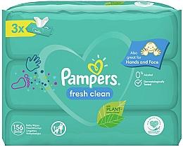 """Voňavky, Parfémy, kozmetika Detské vlhčené utierky """"Baby Fresh Clean"""", 3x52 ks - Pampers"""