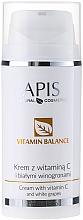 Voňavky, Parfémy, kozmetika Krém na tvár s vitamínom C a bielym hroznom - APIS Professional Vitamin Balance Cream With Vitamin C and White Grapes
