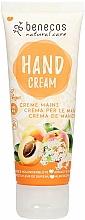 """Voňavky, Parfémy, kozmetika Krém na ruky """"Marhuľa a baza"""" - Benecos Natural Care Apricot & Elderflower Hand And Nail Cream"""