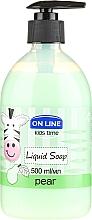 "Voňavky, Parfémy, kozmetika Tekuté mydlo ""Hruška"" - On Line Kids Time Liquid Soap Pear"