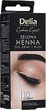 Voňavky, Parfémy, kozmetika Gél-farba na obočie, čierna - Delia Eyebrow Tint Gel ProColor 1.0 Black