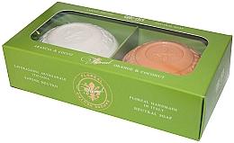 """Voňavky, Parfémy, kozmetika Mydlová sada """"Pomaranč a kokos"""" - Gori 1919 Floreal Orange & Coconut (soap/2 x 150 g)"""