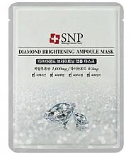 Voňavky, Parfémy, kozmetika Maska na tvár s diamantovým práškovým extraktom - SNP Diamond Brightening Ampoule Mask