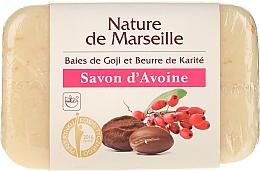 Voňavky, Parfémy, kozmetika Ovesné mydlo s vôňou bobúľ goji a bambuckého masla - Nature de Marseille Soap