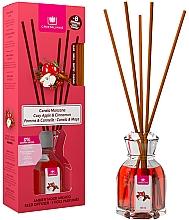 """Voňavky, Parfémy, kozmetika Aromatický difúzor """"Škorica a jablko"""" - Cristalinas Reed Diffuser"""