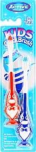 Voňavky, Parfémy, kozmetika Súprava zubných kefiek, 3-6 rokov, tučniak, modrá a červená - Beauty Formulas Kids Quick Brush