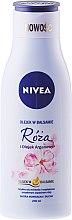 Voňavky, Parfémy, kozmetika Balzam na telo s ružovým a arganovým olejom - Nivea Balm With Rose & Argan Oil
