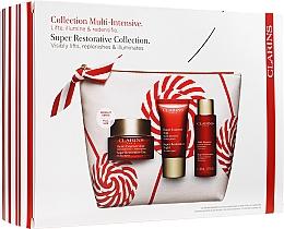 Voňavky, Parfémy, kozmetika Sada - Clarins Super Restorative Christmas Set (cr/50ml + cr/15ml + essence/50ml + bag)