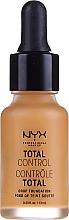 Voňavky, Parfémy, kozmetika Vodeodolný tónovací základ - NYX Professional Makeup Total Control Drop Foundation