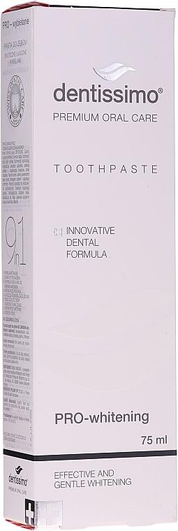 Bieliaca zubná pasta - Dentissimo Pro-Whitening Tothpaste