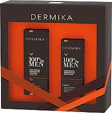 Voňavky, Parfémy, kozmetika Sada - Dermika 100% For Men (f/cr/50ml + eye/cr/15ml)