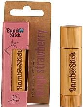 Voňavky, Parfémy, kozmetika Olej na pery s jahodovou príchuťou - Bamboostick Strawberry Bamboo Natural Care Lip Butter