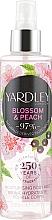 Voňavky, Parfémy, kozmetika Telový sprej - Yardley Blossom & Peach Moisturising Fragrance Body Mist