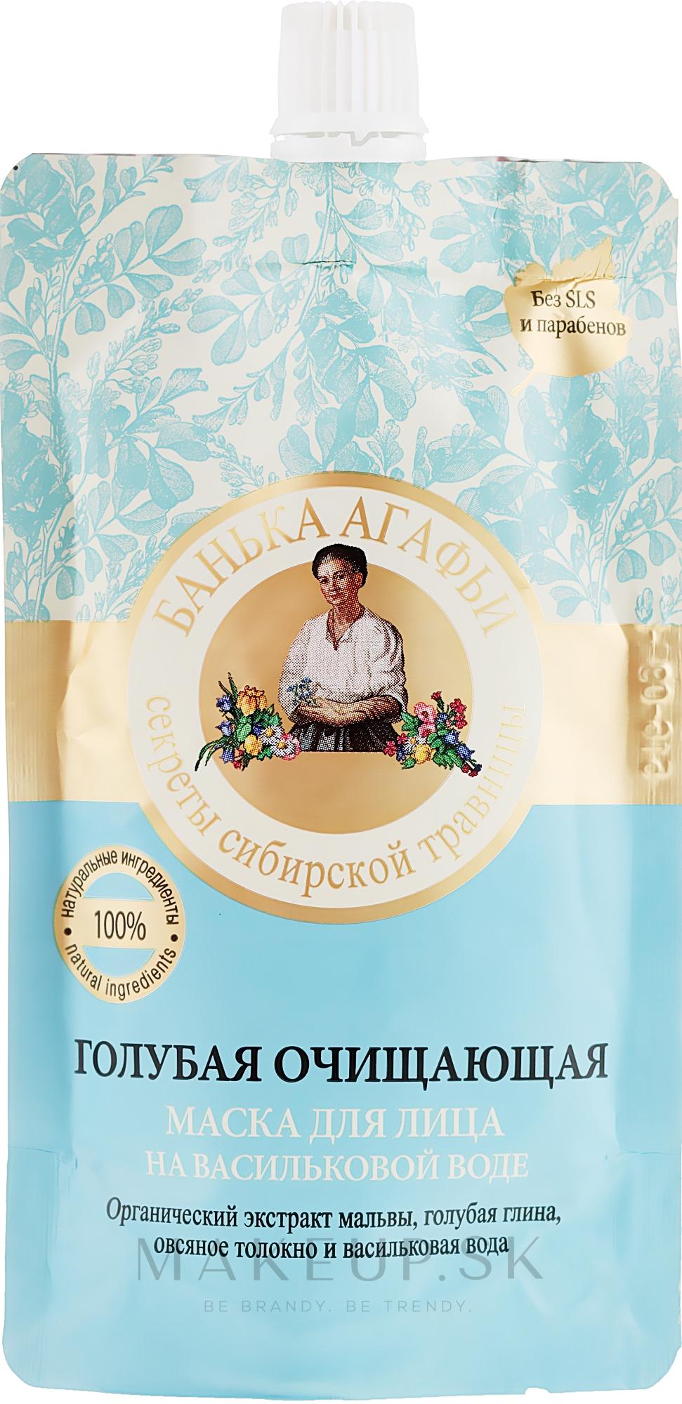 Modrá čistiaca maska na nevädzovej vode - Recepty babičky Agafji Kúpeľňa Agafji — Obrázky 100 ml
