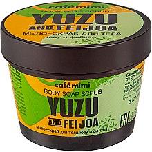"Voňavky, Parfémy, kozmetika Mydlo-telový peeling ""Yuzu a Feijoa"" - Cafe Mimi Body Soap Scrub Yuzu And Feijoa"