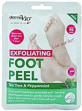 Voňavky, Parfémy, kozmetika Exfoliačná maska na nohy vo forme ponožiek - Derma V10 Foot Peel Sock Mask Tea Tree & Peppermint