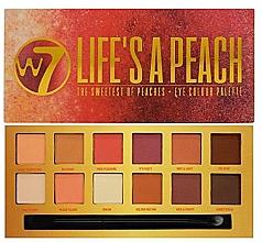 Voňavky, Parfémy, kozmetika Paleta očných tieňov - W7 Life's A Peach Eyeshadow Palette