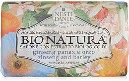 """Voňavky, Parfémy, kozmetika Mydlo """"Ženšen a jačmeň"""" - Nesti Dante Bio Natura Ginseng & Barley Soap"""
