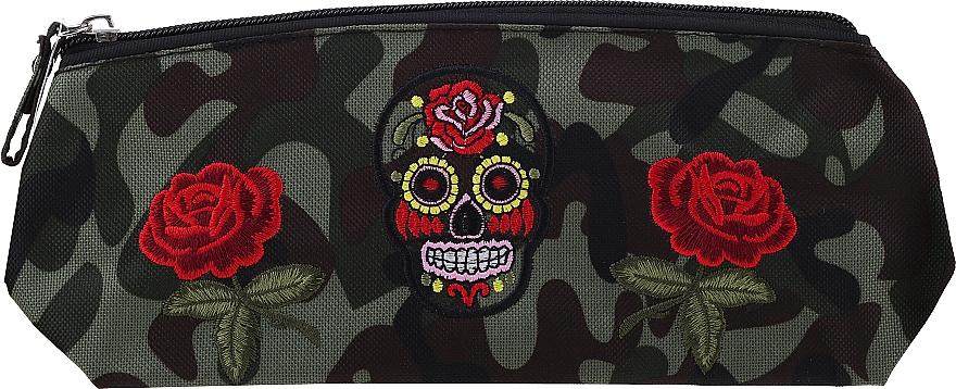 """Kozmetická taška """"Camouflage"""", 95863, ruže a lebka - Top Choice — Obrázky N1"""