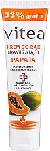 Voňavky, Parfémy, kozmetika Hydratačný krém na ruky s papájou - Vitea Moisturizing Hand Cream Papaja