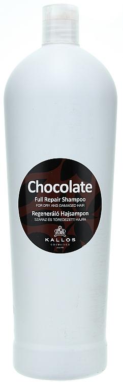"""Šampón na suché a poškodené vlasy """"Čokoláda"""" - Kallos Cosmetics Chocolate Full Repair Shampoo"""
