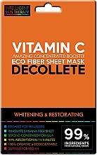 Voňavky, Parfémy, kozmetika Expresná maska pre oblasť dekoltu - Beauty Face IST Whitening & Restorating Decolette Mask Vitamin C