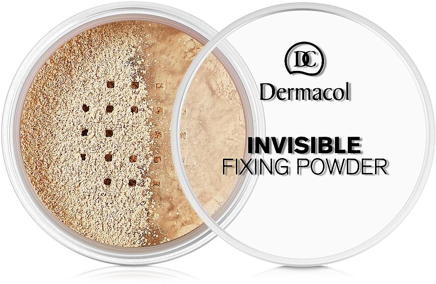 Priehľadný fixačný púder - Dermacol Invisible Fixing Powder