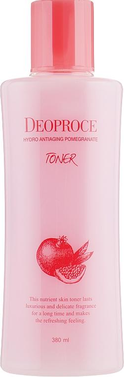 Toner proti starnutiu s extraktom z granátového jablka a kyselinou hyalurónovou - Deoproce Hydro Antiaging Pomegranate Toner