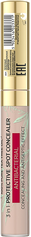 Bodový antibakteriálny korektor na tvár - Evelive Cosmetics Botanic Expert Tea Tree Protective Spot Antibacterial Concealer — Obrázky N2