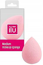Voňavky, Parfémy, kozmetika Špongia-kvapka na make-up stredná, ružová - Ilu Sponge Raindrop Medium Pink