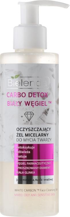 """Čistiaci micelárny gél na umývanie a odstránenie make-upu """"Biele uhlie"""" - Bielenda Carbo Detox Micellar Gel"""