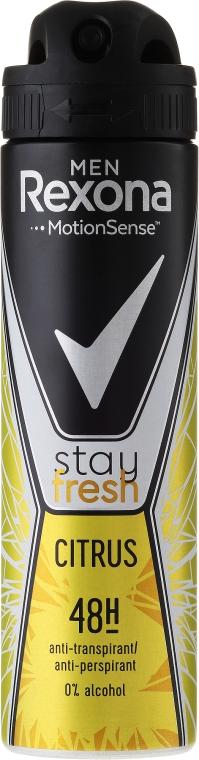 """Dezodoračný sprej """"Citrus"""" - Rexona Men Stay Fresh Citrus Deodorant Spray"""