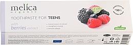 """Voňavky, Parfémy, kozmetika Zubná pasta pre dospievajúcich """"Ovocný mix"""", 6-14 rokov - Melica Organic Toothpaste For Teens With Berries Extract"""