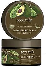 """Voňavky, Parfémy, kozmetika Peelingový scrub na telo """"Hĺbková výživa"""" - Ecolatier Organic Avocado Body Peeling Scrub"""