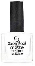 Voňavky, Parfémy, kozmetika Matný lak na nechty - Golden Rose Matte Top Coat