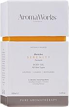 Voňavky, Parfémy, kozmetika Maslo na telo - AromaWorks Serenity Body Oil