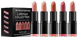 Voňavky, Parfémy, kozmetika Sada 5 rúžov - Revolution Pro 5 Lipstick Collection Matte Nude
