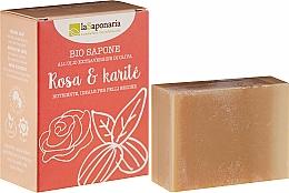 Voňavky, Parfémy, kozmetika Mydlo s bambuckým maslom a ružovými olejmi - La Saponaria Rose & Shea Butter Soap
