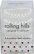 Voňavky, Parfémy, kozmetika Gumička-náramok do vlasov, biela - Rolling Hills 5 Traceless Hair Rings White