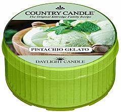 """Voňavky, Parfémy, kozmetika Čajová sviečka """"Pistáciová zmrzlina"""" - Country Candle Pistachio Gelato Daylight"""