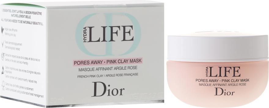 Maska pre zúženie pórov s ružovej hliny - Dior Hydra Life Pores Away Pink Clay Mask — Obrázky N1