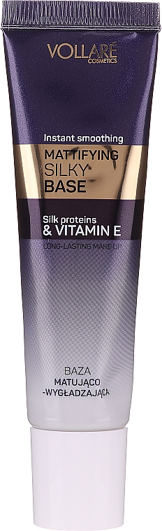 Zmatňujúci podklad pod makeup s hodvábom - Vollare Cosmetics Mattifying Silky Base Instant Smoothing