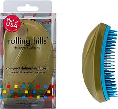 Voňavky, Parfémy, kozmetika Kompaktná kefa na vlasy, zlato - Rolling Hills Compact Detangling Brush Gold