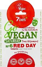 """Voňavky, Parfémy, kozmetika Textilná maska na tvár """"Pre gangsta seňorít"""" - 7 Days Go Vegan Saturday Red Day"""