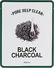 Voňavky, Parfémy, kozmetika Látková maska s čiernym uhlím na čistenie pórov - A'pieu Pore Deep Clear Black Charcoal Mask