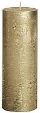 Voňavky, Parfémy, kozmetika Cylindrická sviečka Metallic Gold, 190/68 mm - Bolsius Candle