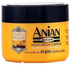 Voňavky, Parfémy, kozmetika Arganová maska na vlasy - Anian Liquid Gold Hair Argan Mask