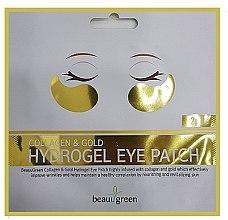 Voňavky, Parfémy, kozmetika Hydrogélové náplaste na očné okolie - BeauuGreen Collagen & Gold
